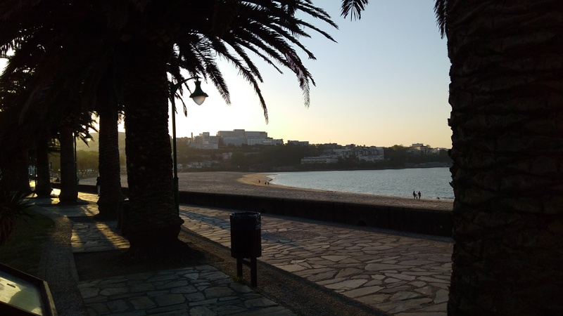 The nice walk by the beach in Santa Cristina, almost empty