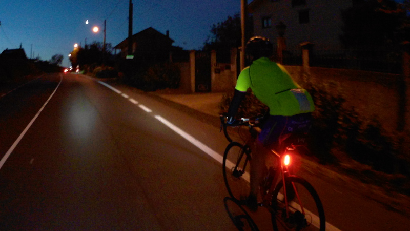 Riding just before the sunrise