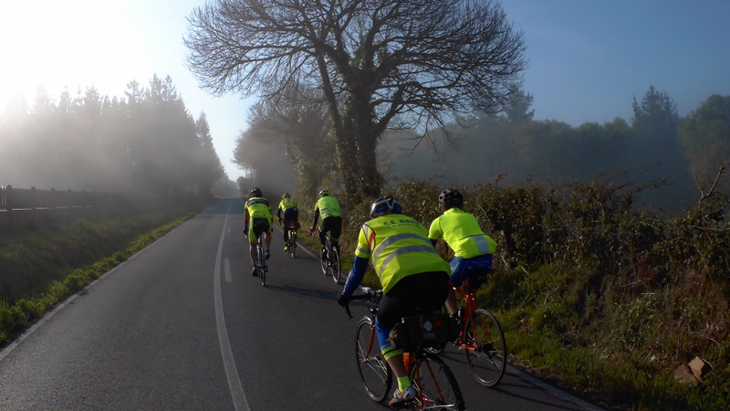Small group riding in the fog (3)