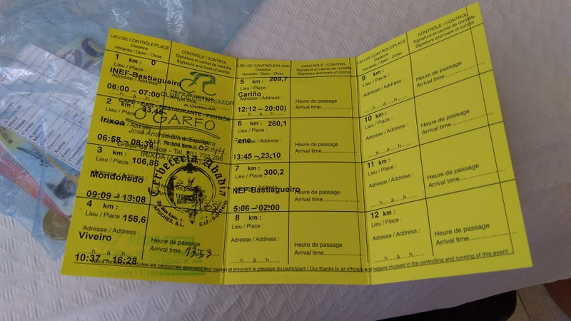 Third stamp on my brevet card