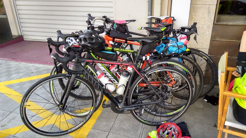 All our bikes together in Fene