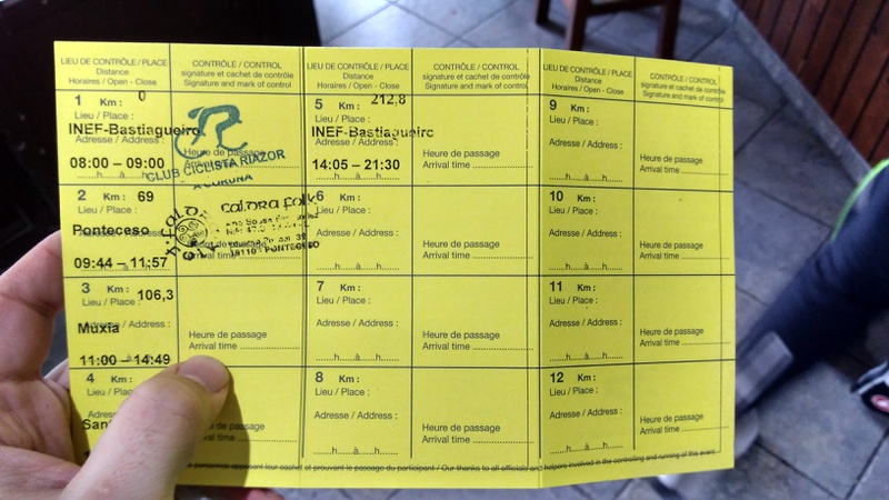 The first stamp on my brevet card