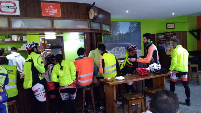 The café in Ponteceso, lots of cyclists there (3)
