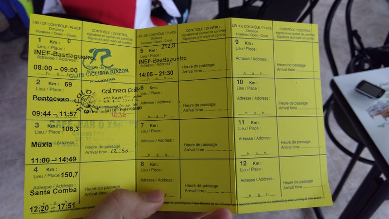 Second stamp on my brevet card