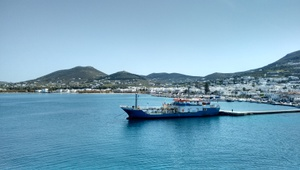 The port of Paros (left)