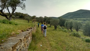 Walking/hiking towards Dimitra's temple