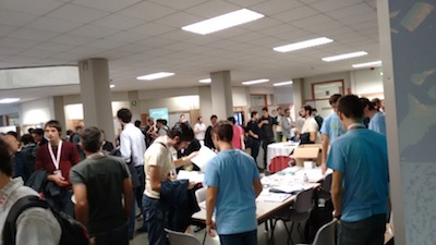 El hall durante el descanso, coffee break 2