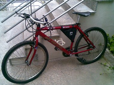 This is the old MTB I've been ride for some time