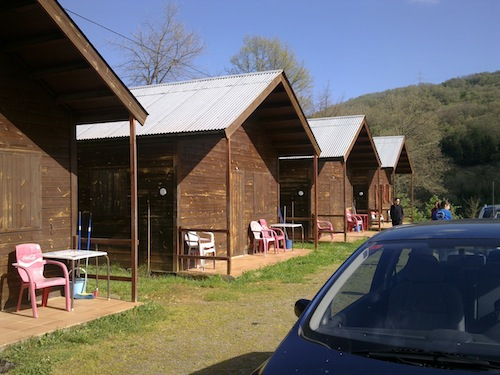 The cabins were really good. Made of wood and really comfortable.