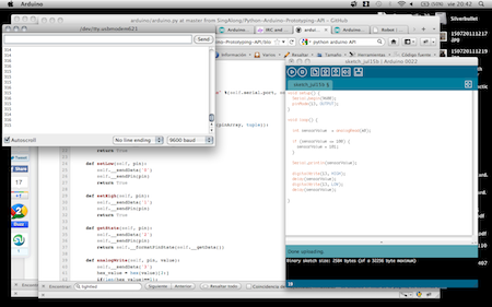 Running my first code in the arduino, the blinking LED example ;P