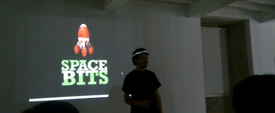 Filipe talking about the SpaceBits project