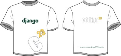 Codigo23 and django in the same t-shirt!