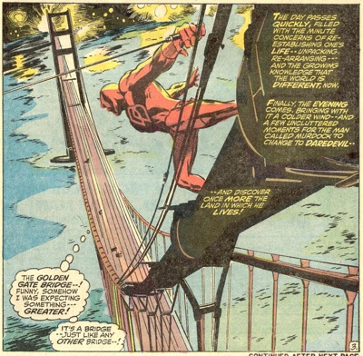 Daredevil in the Golden Gate for the first time