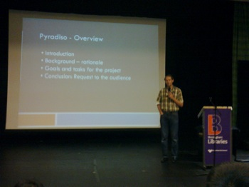 The pyradiso talk, I found it quite boring, let's see if it ends in something useful for the community (hope so! ;))