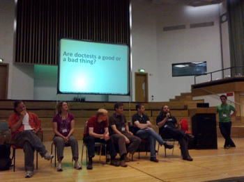 The testing panel, with all the experts!