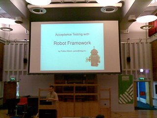 the RobotFramework in action!