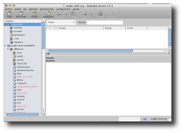 Sylpheed in OSX, OSX-like GTK theme
