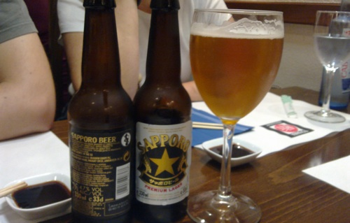 I tried Sapporo beer too